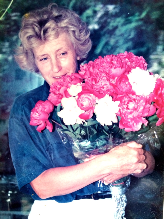 Auntie Marina with her favourite flowers